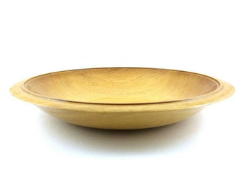Large wooden bowl made from Idigbo, Fruit Bowl, Housewarming Gift, SilvanWoodturning,