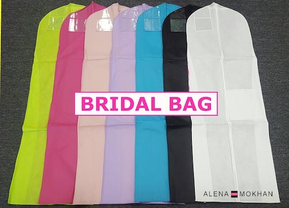 breathable wedding gown prom dress garment bag extra long u. Black Bedroom Furniture Sets. Home Design Ideas