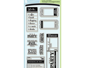 "Inkadinkado  ""Paperwork Greetings"" - Clear stamps"