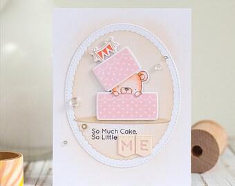 Happy birthday card with a sweet bear