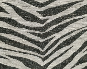 Grey Zebra - Upholstery Fabric by the Yard