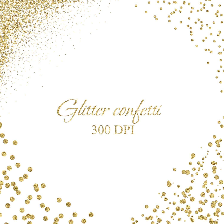 glitter gold clip art gold confetti borders gold confetti