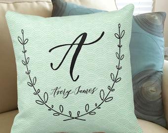 Personalized Pillow- 18x18 Throw Pillow - Decorative Pillow - Baby Pillow - Monogrammed Pillow - Wedding Gift -