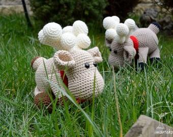 Reindeer stuffed animal, Reindeer amigurumi,crochet reindeer, Valentine's Day,reindeer plush,birthday gift,Christmas Amigurumi,buy amigurumi