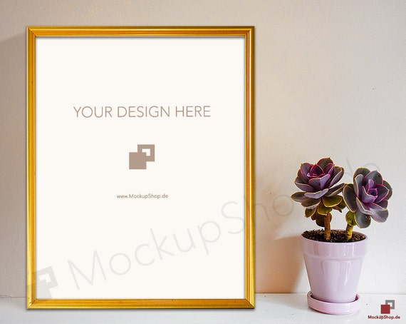 8x10 gold frame mockup empty frame mockup gold mockup with flowers empty gold frame mockup gold mockup photo gold mockup frame from mockupshop