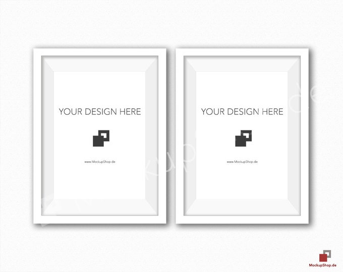 5x7 WHITE FRAME MOCKUP / Set of 2 /  White Wooden Mockup / Frame Mockup /  White Photo Frame Mockup / Instand Download / FrameMockup