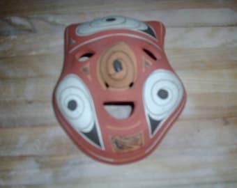 Vintage decorative pottery face