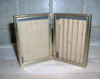 Vintage 2 sided  brass picture frame