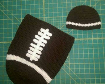 Newborn Football Cocoon and Hat