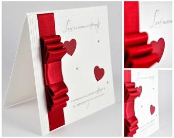 Luxury Handmade Anniversary Card // Luxury Handmade Valentine's Card // Luxury Birthday Card // Card for Her