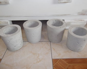 Concrete flower pot planter Ø14cm rustic
