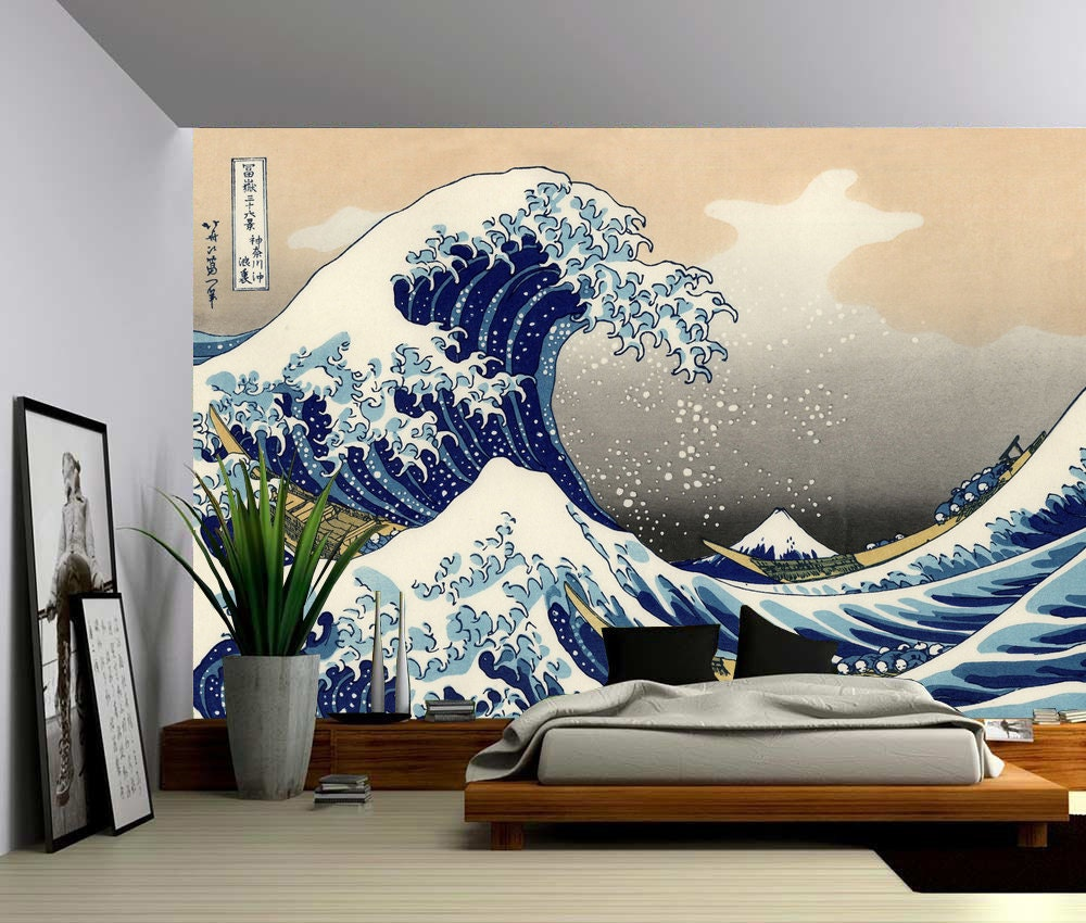 The great wave off kanagawa large wall mural self for 8 sheet giant wall mural