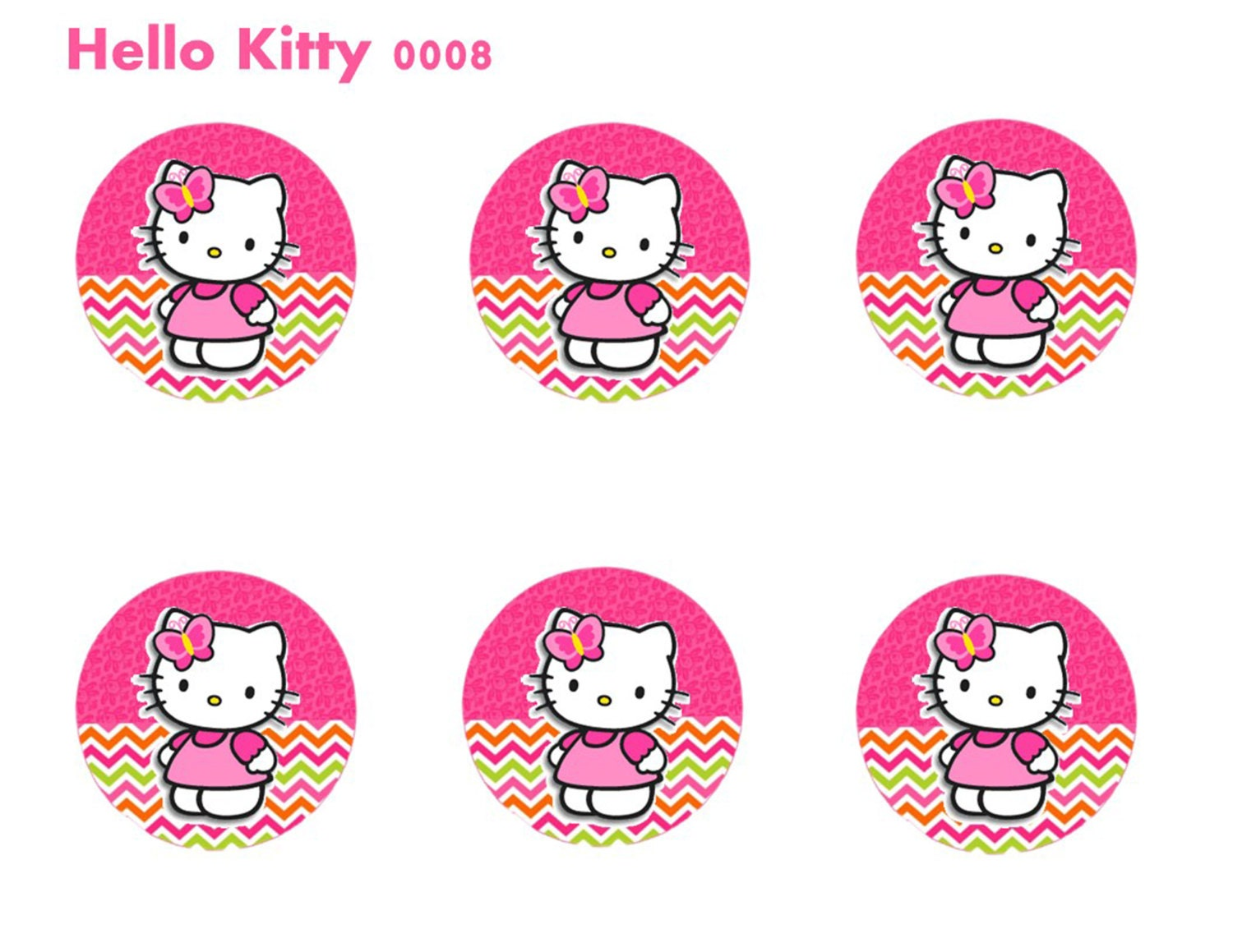Hello kitty cupcake toppers hello kitty cup stickers hello for Hello kitty cupcake topper template