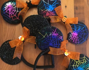 Halloween Mickey Mouse Ears , Minnie Mouse Props, Minnie mouse costume, Disneyland Trip, party favor, costume