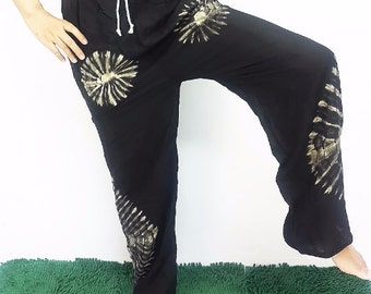 SALE!!!FROM 17.99 Yoga Pants Trouser drawstring waist Meditation Relax pants Rayon Tie Dyed Hippie Boho Gypsy Aladdin/Genie Summer Casual