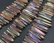 Polished Agate Point Stick Beads,Fuchsia Agate Slice Bulk Beads,Graduated Loose Gemstone Beads,Agate Nugget Pendant Supplies 15.5inches