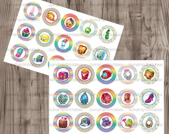 Shopkins Season 3 Bottle Cap Images ~ 2 Sheets ~ Instant Download ~ Toys ~ Bottlecap ~ Digital Images ~ Cute ~ SH-685