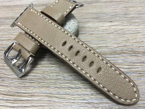 Apple Watch Band, iwatch, Apple Watch Band 42mm, Etoupe Grey, Apple Watch Strap, leather Watch Band, Apple Watch 38mm, FREE SHIPPING