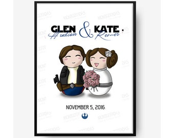 Star Wars Save the Date - Print / Custom Print Star Wars / Star Wars Save the Date / Wedding or Anniversary Gift