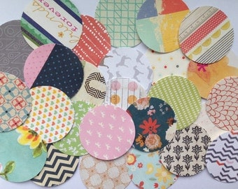 "Paper Circle 1.5"" Embellishment Pack 100"