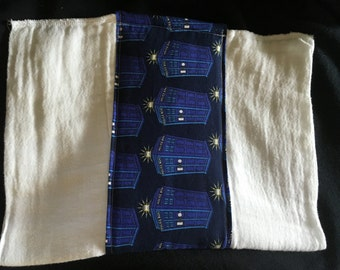 Dr. Who Burp Cloth
