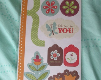 15 Card stock stickers, Stickers, Card stock, Scrapbooking
