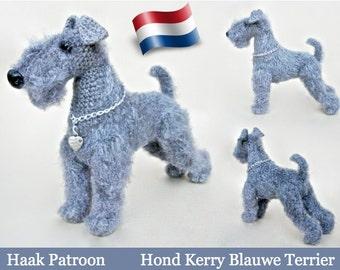 103NLY Hond Kerry Blauwe Terrier Amigurumi haakpatroon -pfd by Chirkova etsy
