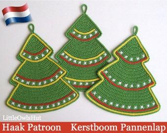 087NLY Kerstboom decoratie, pannenlap - Amigurumi Haak Patroon - PDF file by Zabelina Etsy