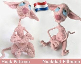 006NLA Haak Patroon - Naaktkat Fillimon - PDF file Amigurumi by Astashova Etsy