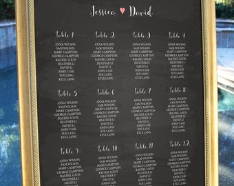 Chalkboard Rustic Wedding Table Seating Sign Personalise Table Chart Reception Seating Chart Wedding Decoration Decor Digital Printable