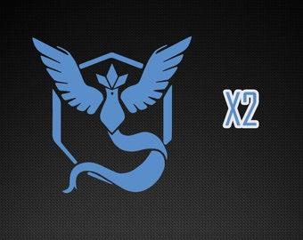 Pokemon Go Decals - Team Mystic x2