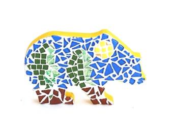 Bear Mosaic - Wall Art