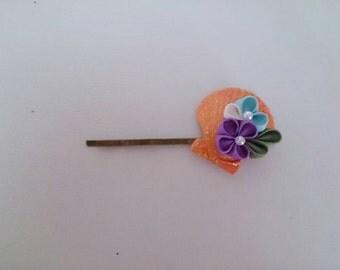 Thumb filigree flower hairpin 8-9