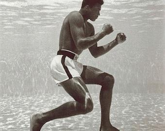 Muhammad Ali Underwater Training Canvas Art (12x12)