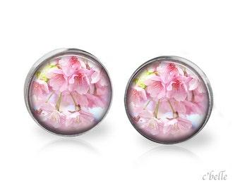 Earrings flowers - cherry blossom 4