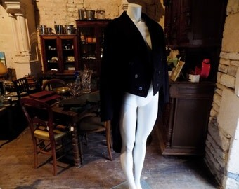 French vintage tail coat, hand sewn and made in Paris.