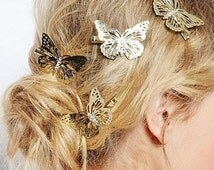 3d hollow out bow butterfly barrette hair pins hair clip accessories for women girls headpiece