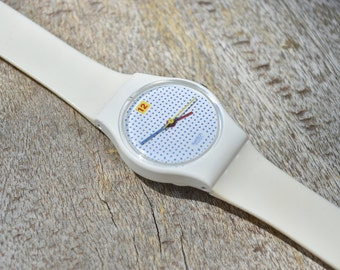 Vintage Dotted Swatch Watch