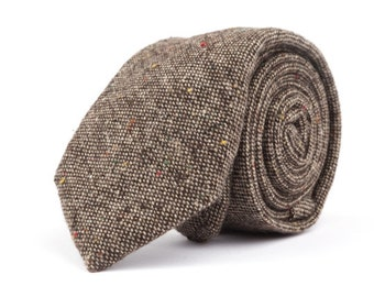 Solid Brown Necktie