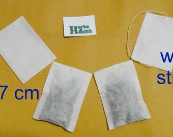 Empty Tea Bags, 5 x5 cm, 5 x 7 cm with and without Strings, DIY, Homemade Tea Bags, 30 bags