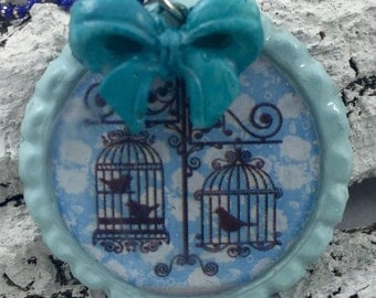 "necklace ""Bird in a Cage"""