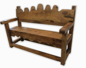 Mesquite Old Spanish Style Bench