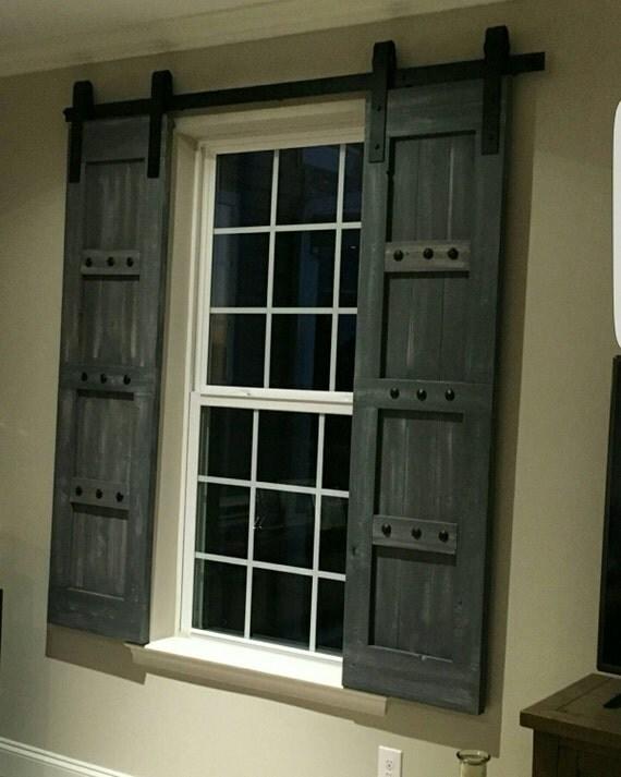 Interior Barn Doors With Windows interior window barn door sliding shutters barn door