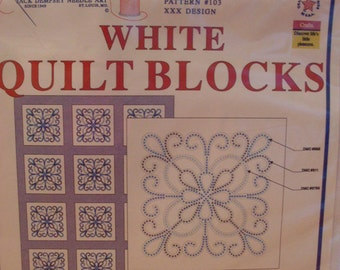 White Quilt Blocks Counted Cross Stitch & Embroidery