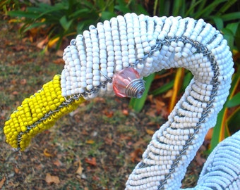 African Wire and Bead Art - Duck - Outstanding Craftsmanship - Perfect for Any Home!