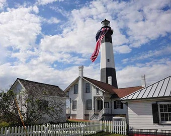 Tybee Island Lighthouse, ,Georgia Lighthouse. Savanna Lighthouse,  Fine Art Photography, Custom Print, Free Shipping,