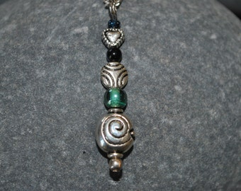 Whimsical Beaded Pendant Necklace