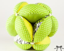 Montessori Ball, Baby Toy, Puzzle Ball, Ball, Green, Yellow
