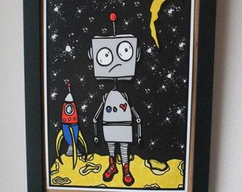 Moon Robot Print
