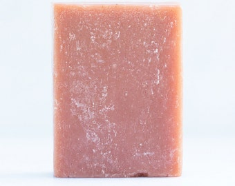 SWEET EARTH-natural, vegan Grapefruit & Rosemary cold process soap, colored with Aronia berries